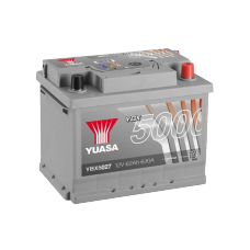 YBX5027 Silver High Performance Battery 62Ah (600A) -/+ (0)