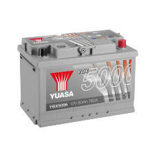 YBX5096 Silver High Performance Battery 80Ah (760A) -/+ (0)