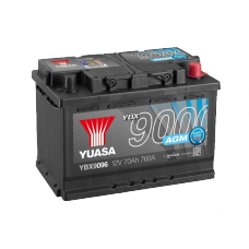 YBX9096 AGM Start Stop Plus Battery 70Ah (760A) -/+ (0)