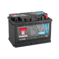 YBX9096 AGM Start Stop Plus Battery 70Ah (760A) -/+ (0)