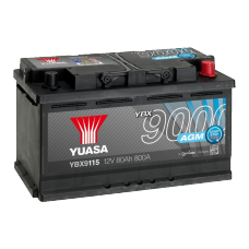 YBX9115 AGM Start Stop Plus Battery 80Ah (800A) -/+ (0)